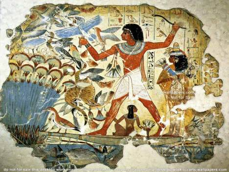 You don't have to be an art historian to recognize a painting from ancient Egypt.