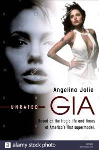ANGELINA JOLIE POSTER Character(s): Gia Carangi Film 'GIA' (1998) Directed By MICHAEL CRISTOFER 31 January 1998 SAL46835 Allstar Collection/HBO **WARNING** This Photograph is for editorial use only and is the copyright of HBO and/or the Photographer assigned by the Film or Production Company & can only be reproduced by publications in conjunction with the promotion of the above Film. A Mandatory Credit To HBO is required. The Photographer should also be credited when known. No commercial use can be granted without written authority from the Film Company.