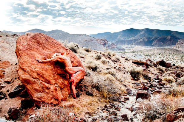 Nude Against A Red Rock
