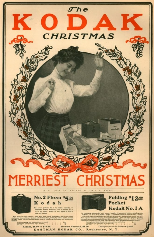 Vintage Kodak Christmas Advertisements from the 1900's (9)