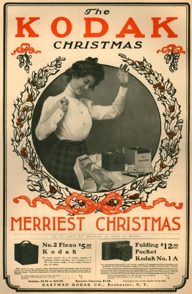 Vintage Kodak Christmas Advertisements from the 1900's (9)