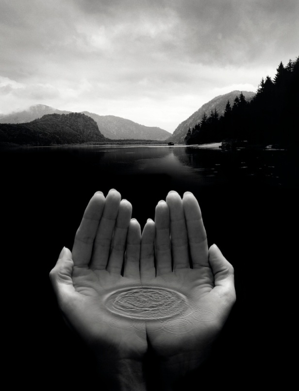2003-Untitled-hands-holding-water-by-Jerry-Uelsmann