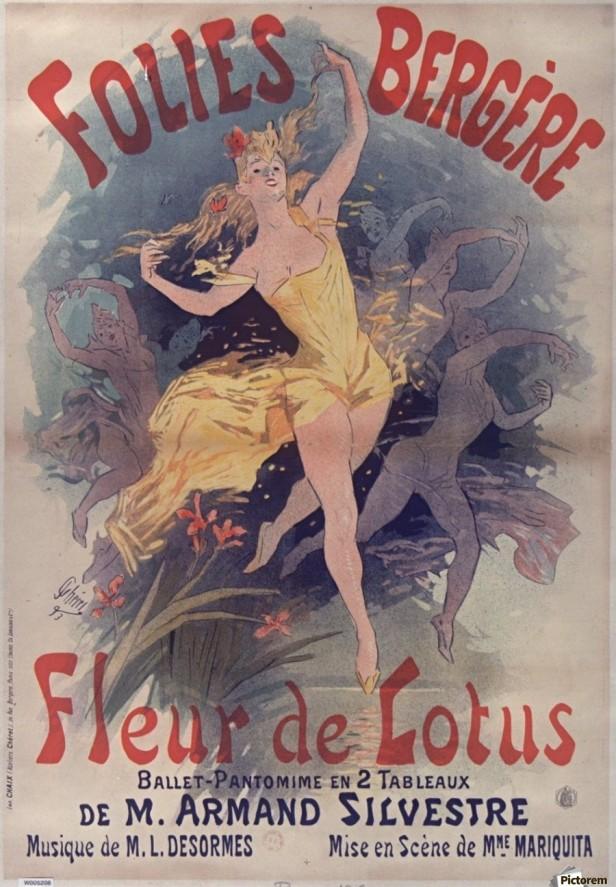 900_Folies Bergere Fleur de Lotus Poster
