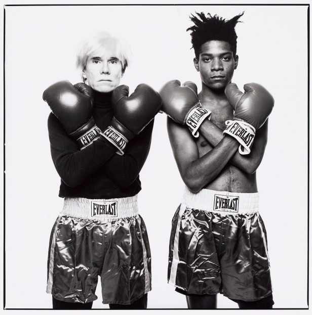 MichaelHalsband Andy Warhol and Jean-Michel Basquiat 1985 Gelatin Silver Print