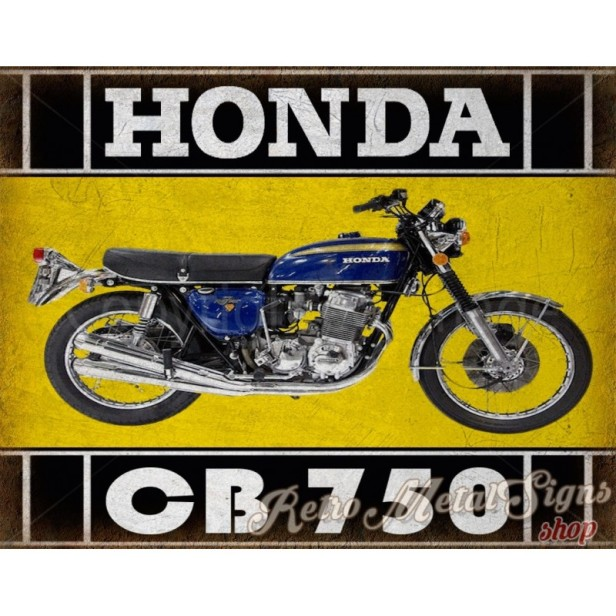 honda-cb750-classic-motorcycle-vintage-garage-advertising-plaque-metal-tin-sign-poster