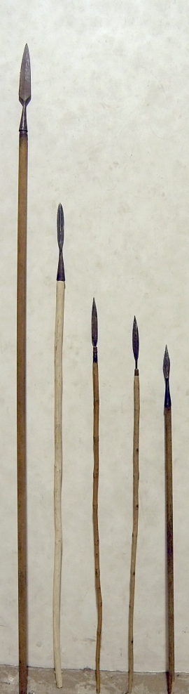 A_spear_and_a_series_of_javelins.